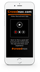 Iphone Mobile APPS CROWDNAX Branded by Naxlink